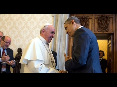 President Obama & Pope Francis Meeting - Ceremony Video