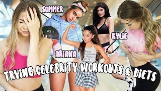 Trying Instagram Celebrity Workouts & Diets For A Week! Ariana Grande, Kylie Jenner & More!