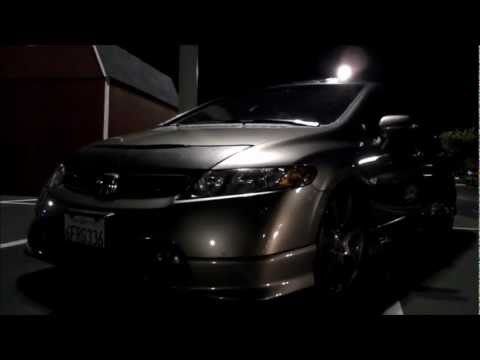 2008 Honda Civic Si Sedan with OEM HFP(Honda Factory Performance) body kit and rims on H&R Coilovers