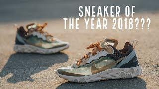 """Đập Hộp + Đánh giá + On Feet đôi Nike Element React 87 """"Green Mist"""" Undercover - Hung Dinh"""