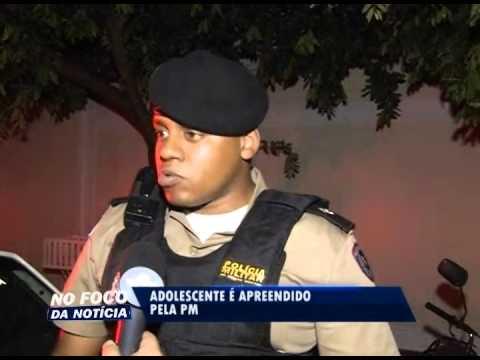 Adolescente é apreendido por roubo no Bairro Santa Mônica