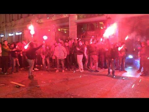 Спартак - Чемпион: огни, пение, драка • Spartak Moscow ultras: celebration and clashes