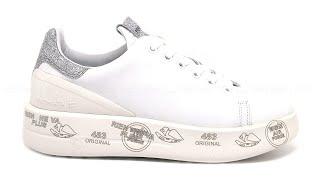 Premiata Belle sneakers pelle liscia bianca SKU #BELLE3014