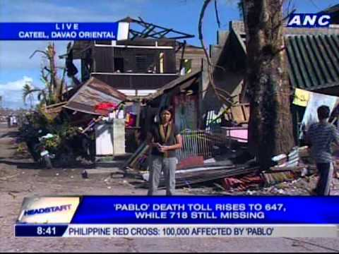 Chiara Zambrano reports live from Cateel, Davao Oriental