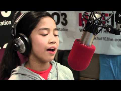 """Maria Aragon performs """"Just The Way You Are"""" on Hot 103"""