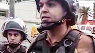 POLÍCIA AMEAÇA PRENDER JUIZ FEDERAL EDEVALDO DE MEDEIROS NA PORTA DA VIGÍLIA LULA LIVRE - PARTE I