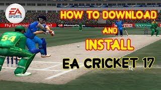 How to download and install EA Cricket 2017 Game Pc - Urdu/Hindi