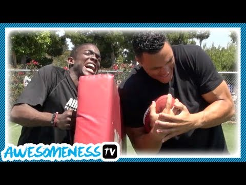 How to Go Across the Middle with NFL Pro Tony Gonzalez - How To Be Awesome Ep. 7