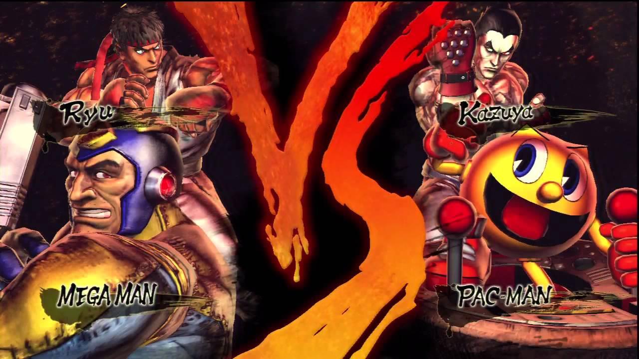street fighter x tekken megaman vs pacman hd youtube