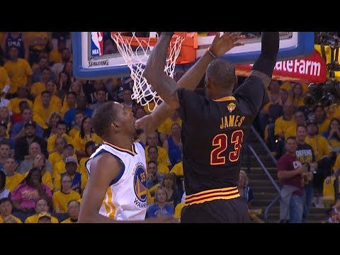 LeBron James Dunks On Kevin Durant! Warriors vs Cavaliers - 2017 NBA Finals Game 5