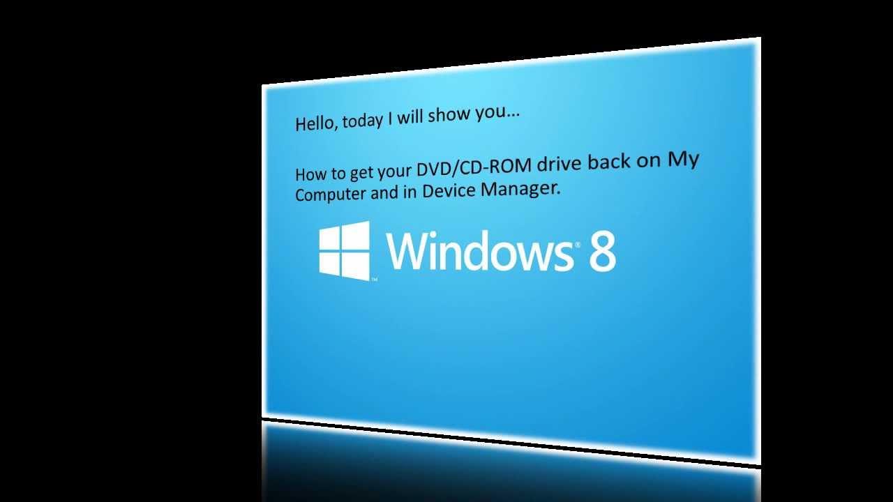 dvd drive windows 8