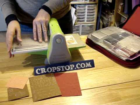 Sizzix Embossing Folders in a Cuttlebug Machine