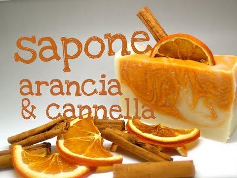 SAPONE NATURALE ARANCIA & CANNELLA METODO AD ACQUA RIDOTTA - Homemade Orange & Cinnamon Soap