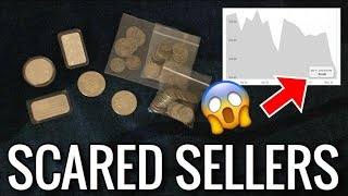 Silver Spot Price Drops BELOW $14.50/oz & People Who Sell Out Of Fear   Coins, Rounds, Bars Stacking