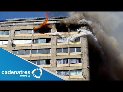 Imágenes exclusivas del incendio del edificio de Coahuila, Tlatelolco (VIDEO)