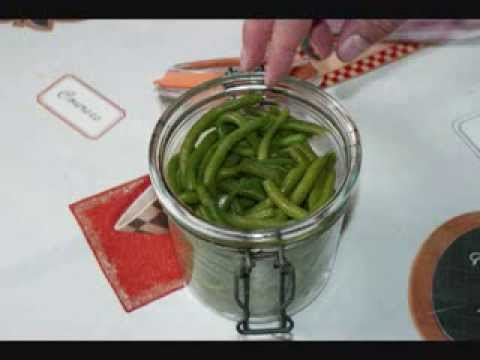Haricots verts en bocaux youtube - Comment congeler les haricots verts du jardin ...