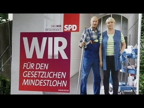 While Merkel's away, German opposition SPD hit election doorbells