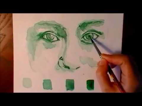 Watercolor Painting Tutorial Watercolor Eyes Tutorial