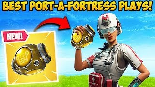 *NEW* PORT-A-FORTRESS IS INSANE! - Fortnite Funny Fails and WTF Moments! #325