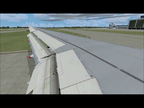 Flight Simulator X 2012 - Landing Airbus A321 in Windy Weather