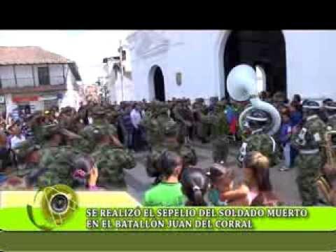 Se realizó el sepelio del Soldado muerto en el Batallón Juan del Corral