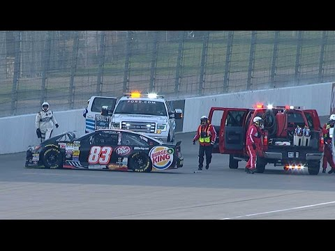 Ryan Truex Hard Crash @ 2014 NASCAR Sprint Cup Michigan Practice