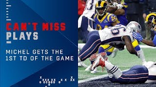 Brady, Gronk & Michel Lead Pats to 1st TD of the Game | Super Bowl LIII Can't-Miss Play
