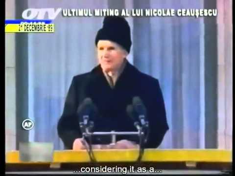 Last speech of Nicolae Ceaușescu, 21. December 1989