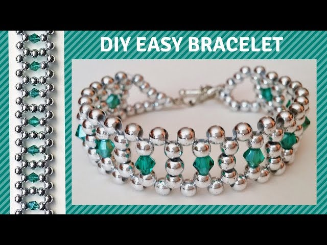Beaded bracelet design. DIY beading bracelet with beads