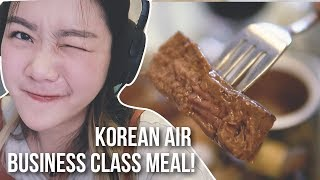 Mukbang STEAK di LANGIT || Korean Air BUSINESS CLASS Meal Review