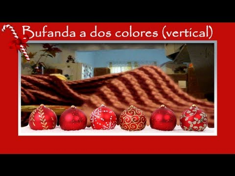 Cómo hacer: Bufanda de dos colores vertical - Punto Cruzado