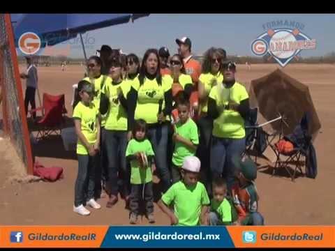 Porra de la Liga Sonora del Torneo de Béisbol Infantil Formando Ganadores