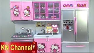 Đồ chơi trẻ em Bé Na nhà bếp Hello Kitty kitchen toy trò chơi nấu ăn Childrens toys