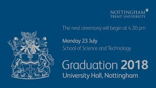 NTU Graduation 2018 Ceremony 20: School of Science and Technology, 4:30 pm
