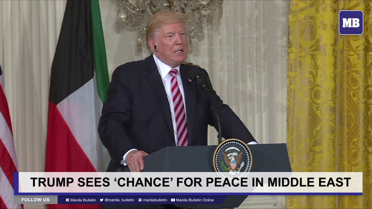Trump sees 'chance' for peace in Middle East