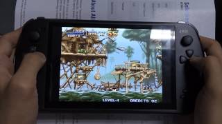 [01[NEO-GEO]Metal Slug 1 gameplay on JXD S7800B Android Handheld] Video