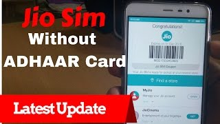 get JIO sim without ADHAR Card | Generate BARCODE Automatically -My JIO App Latest UPDATE (HINDI)
