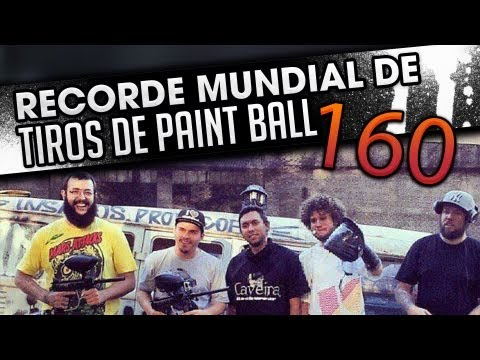 160 TIROS DE PAINTBALL RECORDE MUNDIAL / 160 SHOTS OF PAINTBALL WORLD RECORD