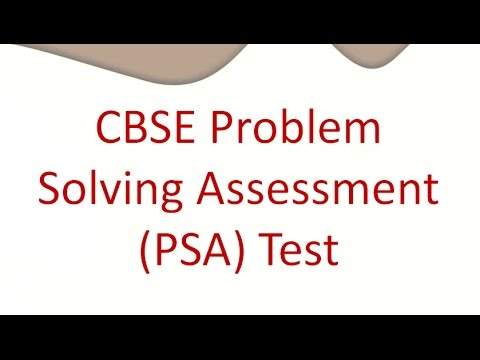 CBSE Problem Solving Assessment (PSA) Test