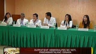 Sanhi ng panginginig ng mahigit 40 pasyente sa Hemodialysis Center, iniimbestigahan ng NKTI