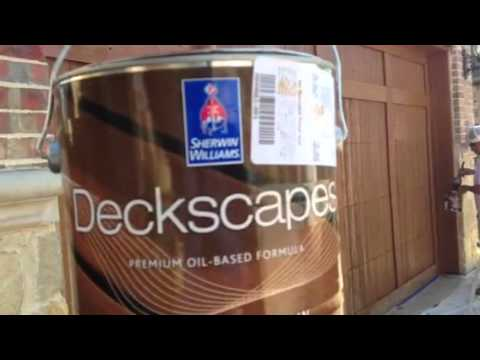 Deckscapes Oil Stain Garage Door Sherwin Williams 3511 Ce Youtube