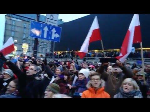 Poland defending free media! - Polska w obronie wolnych mediów - Manifestation Warsaw, 09.01.2016
