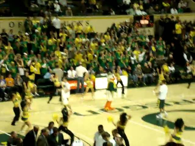 The Oregon Pit Crew getting amped up during the Missouri-Oregon game 12-02-2010