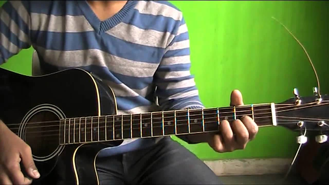 Palat meri jaan guitar chords strumming solo lesson - YouTube