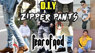 DIY: JEANS CON ZIPPERS AL ESTILO FEAR OF GOD | ZIPPER PANTS