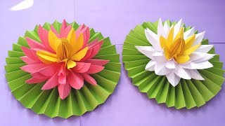 DIY How to Make Most Beautiful Lotus/ Water Lily With Paper!!!