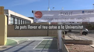 Eixut arriba a la UPV, llavat ecològic de vehicles - Noticia @UPVTV 15-11-2017