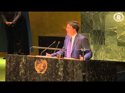 Matteo Renzi ONU - Video Discorso Alle Nazioni Unite