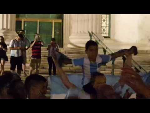 Hinchas post game celebration  Argentina panama Copa America 2016
