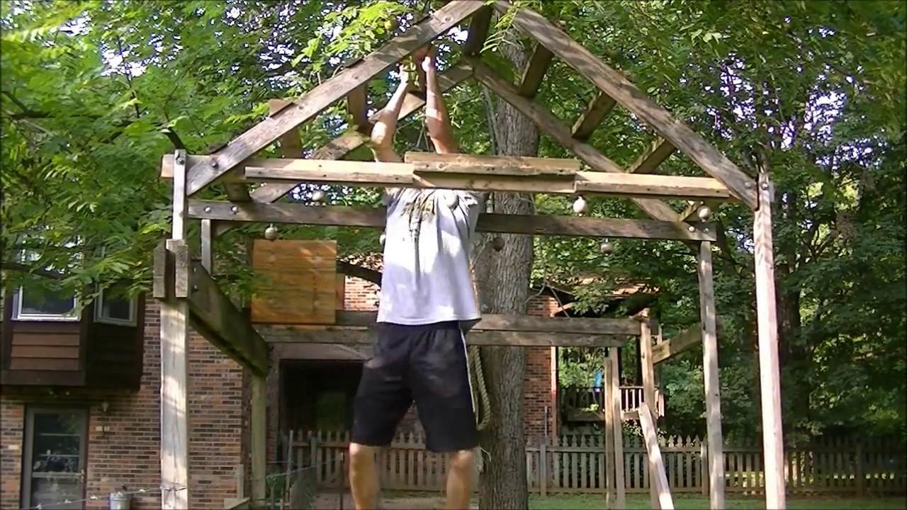 Backyard Ninja Warrior Obstacles : Homemade Ninja Warrior Obstacle Course  YouTube